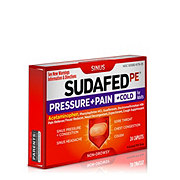Sudafed PE Pressure + Pain + Cold For Adults Caplets