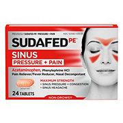 Sudafed PE Pressure + Pain For Adults Maximum Strength Caplets