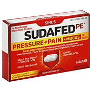 Sudafed PE Pressure + Pain + Mucus For Adults Caplets