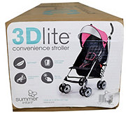 Summer Infant 3D Lite Convenience Stroller, Hibiscus Pink