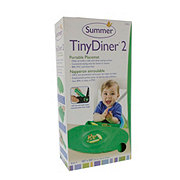 Summer Infant Tiny Diner 2 Portable Placemat, Green
