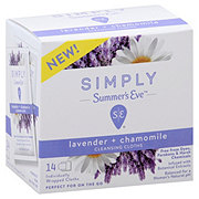 Summer's Eve Simply Lavender Chamomile Cleansing Cloths