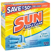 Sun Sunsational Scents Clean & Fresh Powder Laundry Detergent, 120 Loads
