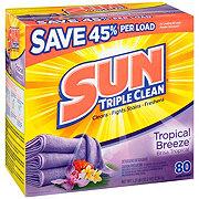 Sun Sunsational Scents Tropical Breeze Powder Laundry Detergent, 80 Loads