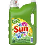 Sun Triple Clean Fresh Morning Breeze Liquid Detergent, 125 Loads
