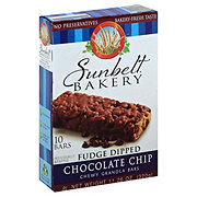 Sunbelt Fudge Dipped Chocolate Chip Chewy Granola Bars