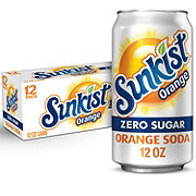 Sunkist Diet Orange Soda 12 oz Cans