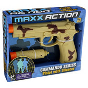 Sunny Days Entertainment Maxx Action Commando Series Pistol with Silencer