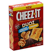 Sunshine Cheez-It Duoz Caramel Popcorn and Cheddar