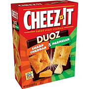 Sunshine Cheez-It Duoz Sharp Cheddar Parmesan Baked Snack Crackers