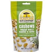 Sunshine Nut Company Cashews Roasted with Herbs