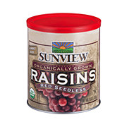 Sunview Organic Red Seedless Jumbo Size Raisins