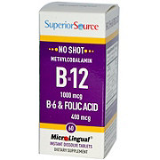 Superior Source B-12 1000 mcg B-6 & Folic Acid 400 mcg Instant Dissolve Tablets