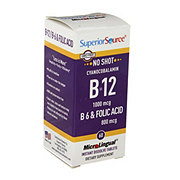 Superior Source B-12 1000 mcg B-6 & Folic Acid 800 mcg Instant Dissolve Tablets