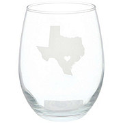 Susquehanna Glass Texas Love Stemless Wine Glass