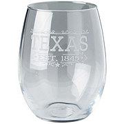 Susquehanna Stemless Wine Glass Texas Strong