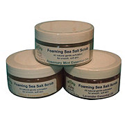 Sweet Earth Soap Company Foaming Sea Salt Scrub, Lavender Essential Oil