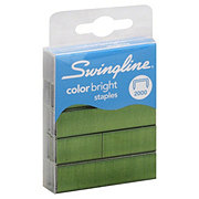 Swingline Color Bright Staples, Leg Length, Assorted Colors, 2,000 Per Box