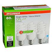 Sylvania 13W Super Saver Bright White CFL Bulbs