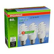 Sylvania 13W Super Saver Daylight 65 CFL Bulbs