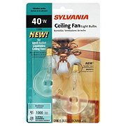 Sylvania 40-Watt A15 Fan Light Bulb, Clear, Soft White