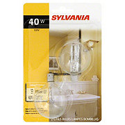 Sylvania 40-Watt G16.5 Globe Light Bulb, Candelabra Base