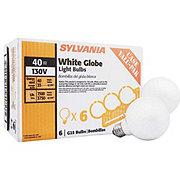 Sylvania 40 Watt G25 Bulbs White Globe Light Bulb