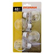 Sylvania 40-Watt Light Bulb, G16.5 Globe for Bathroom Vanity, Clear