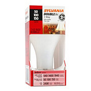 Sylvania 50-100-150 Watt 3-Way Light Bulb, DoubleLife A21, Soft White