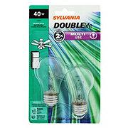 Sylvania A15 40 Watt Multi Clear 2 Pack