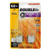 Sylvania Double Life B10 60 Watt Decor Clear E26 2 Pack