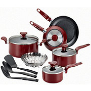 T-fal inEnjoy in Red Non Stick Set