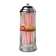 TableCraft Products Glass Straw Dispenser