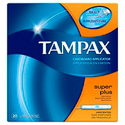 Tampax Cardboard Super Plus Tampons Unscented