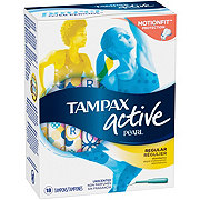 Tampax Pearl Active Regular Plastic Tampons Unscented