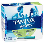 Tampax Pearl Active Super Plastic Tampons Unscented