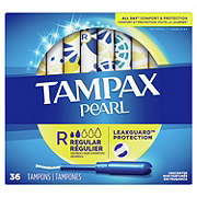 Tampax Pearl Regular Plastic Tampons Unscented