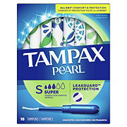Tampax Pearl Super Plastic Tampons Unscented