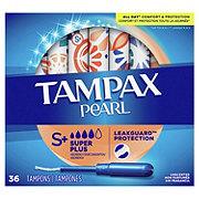 Tampax Pearl Super Plus Plastic Tampons Unscented