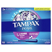 Tampax Pearl Ultra Plastic Tampons Unscented