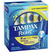 Tampax Pocket Pearl Regular Plastic Tampons Unscented