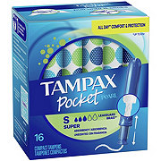 Tampax Pocket Pearl  Super Plastic Tampons Unscented