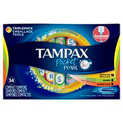 Tampax Pocket Pearl Triplepack (Regular/Super/Super Plus) Plastic Tampons Unscented