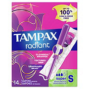 Tampax Radiant Super Tampons Unscented