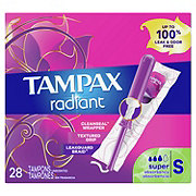 Tampax Radiant Super Unscented Plastic Tampons
