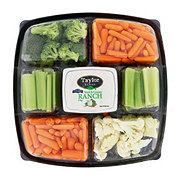 Taylor Farms Large Vegetable Party Tray With Dip