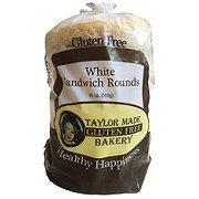 Taylor Made Gluten Free Bakery White Sandwich Rounds