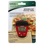 Taylor Red Kitchen Clip Timer