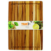 Teakhaus 16x11 in Rectangle Edge Grain Cutting/ Serving Board with Juice Canal