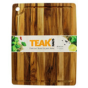 Teakhaus 18x14 in Rectangle Edge Grain Cutting Board with Corner Hole & Juice Groove